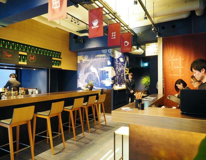 ホステルの1Fには、世界のビールを提供するカフェバーも併設