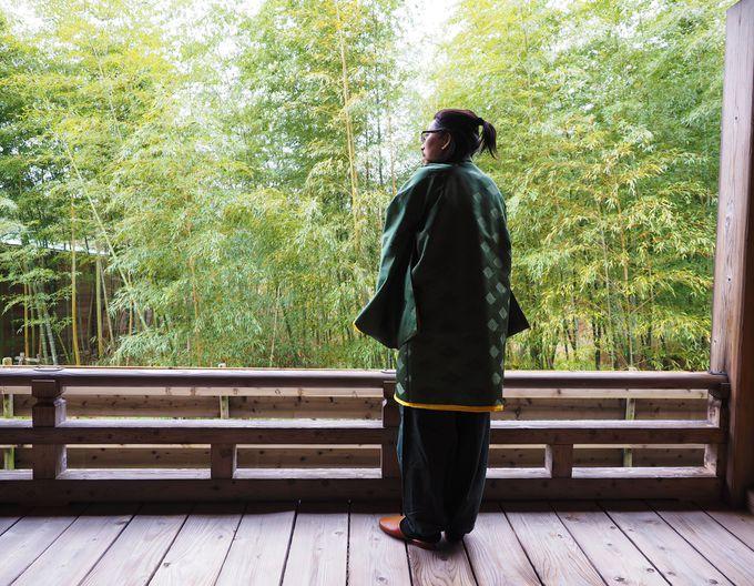 竹林に囲まれた寛ぎ空間