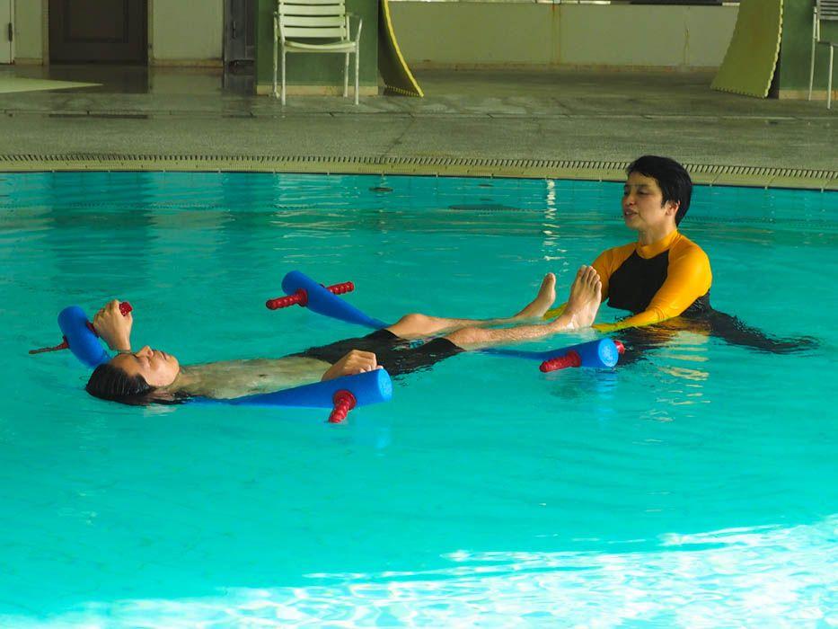 温泉保養士が教える温泉プールの『アクアエクササイズ』