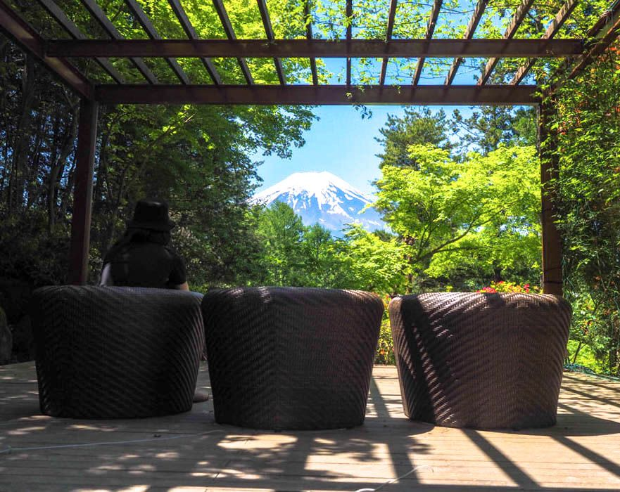 お庭から富士山を独り占めできる、絶景テラス