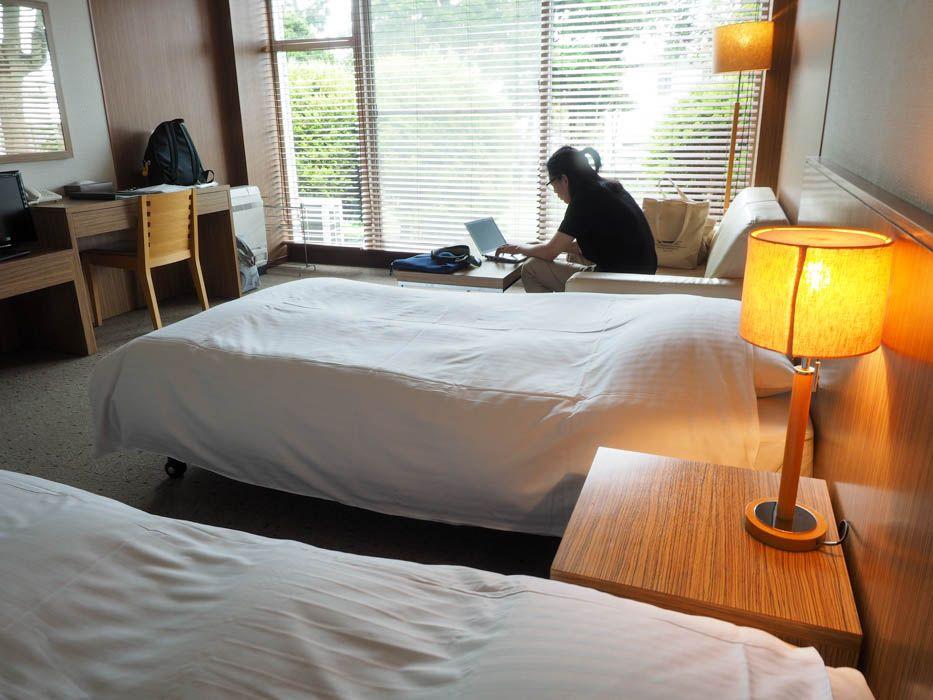 「プレーゴ葉山」の広々した客室