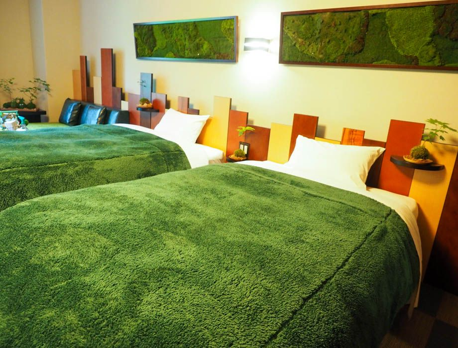 すべてが苔づくし。限定1室「星野リゾート 奥入瀬渓流ホテル」の『苔ルーム』