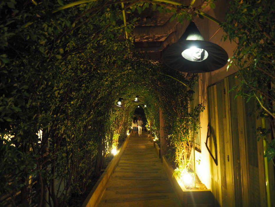 トンネルにはウィッチハットのランプが!