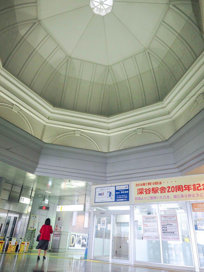 コンコースの天井にはあのドームが