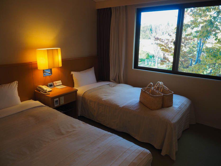 部屋の眺望も素敵!シンプルで落ち着いた客室