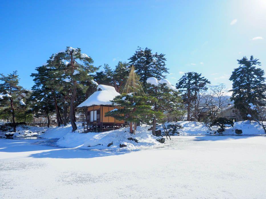 歴史の傷跡が残る、会津藩主の美しい日本庭園「御薬園」