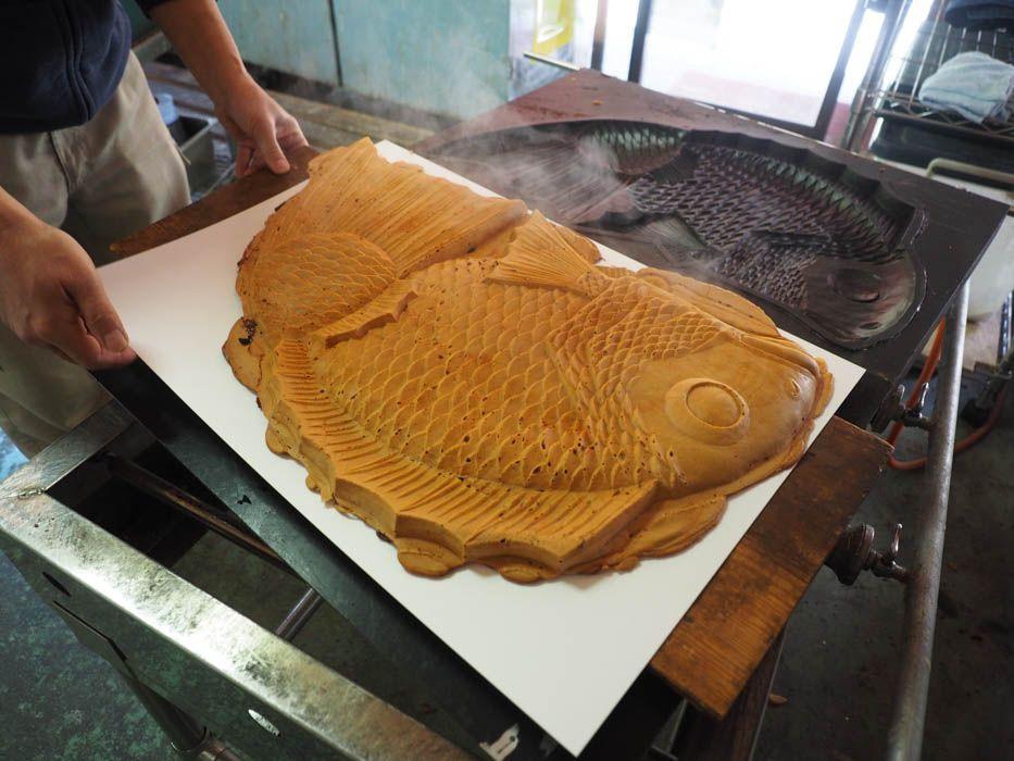ヒレまでアンコがみっちり詰まった天然の鯛焼き