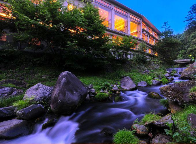 渓流沿いで森林浴が楽しめる癒しスポット
