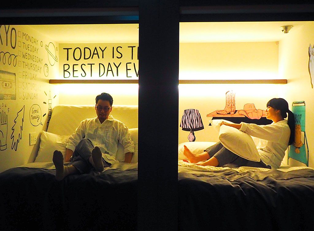 動くベッド+アート!「ザ・ミレニアルズ渋谷」は楽しすぎる未来型カプセル