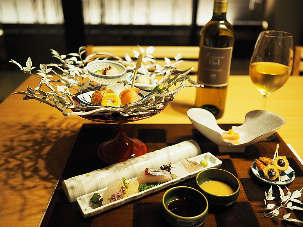 五感すべてで食欲をかきたてる美しい会席料理