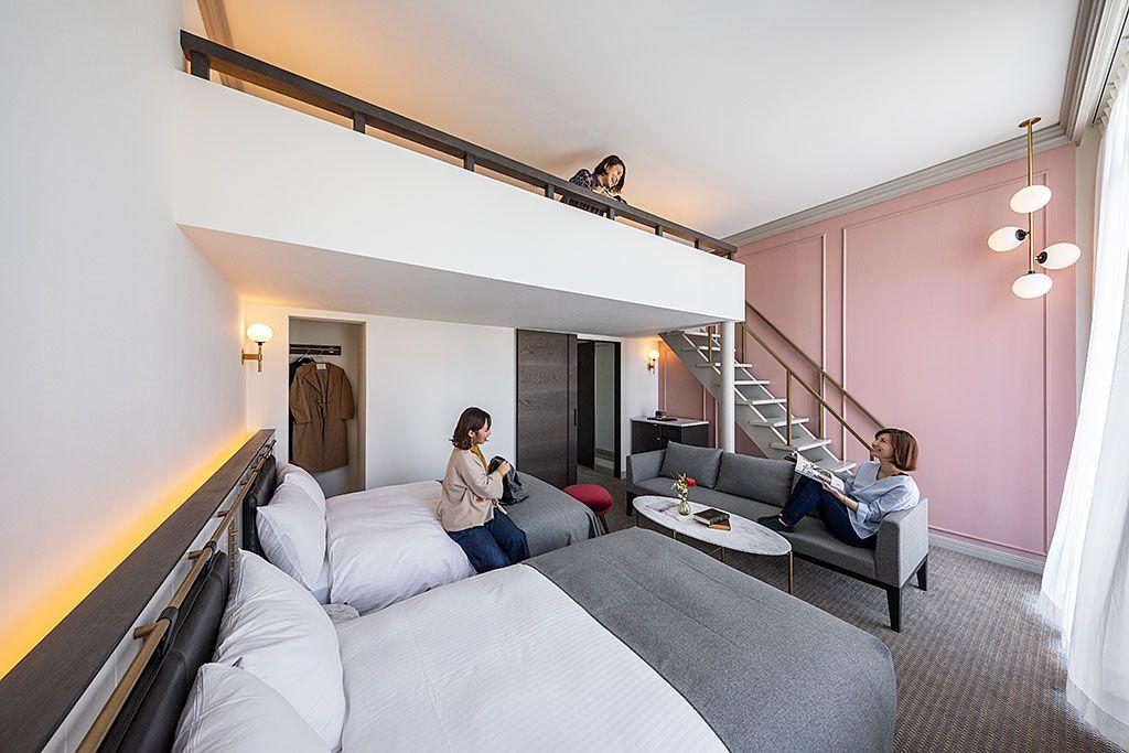快眠をサポートしてくれるモダンな客室
