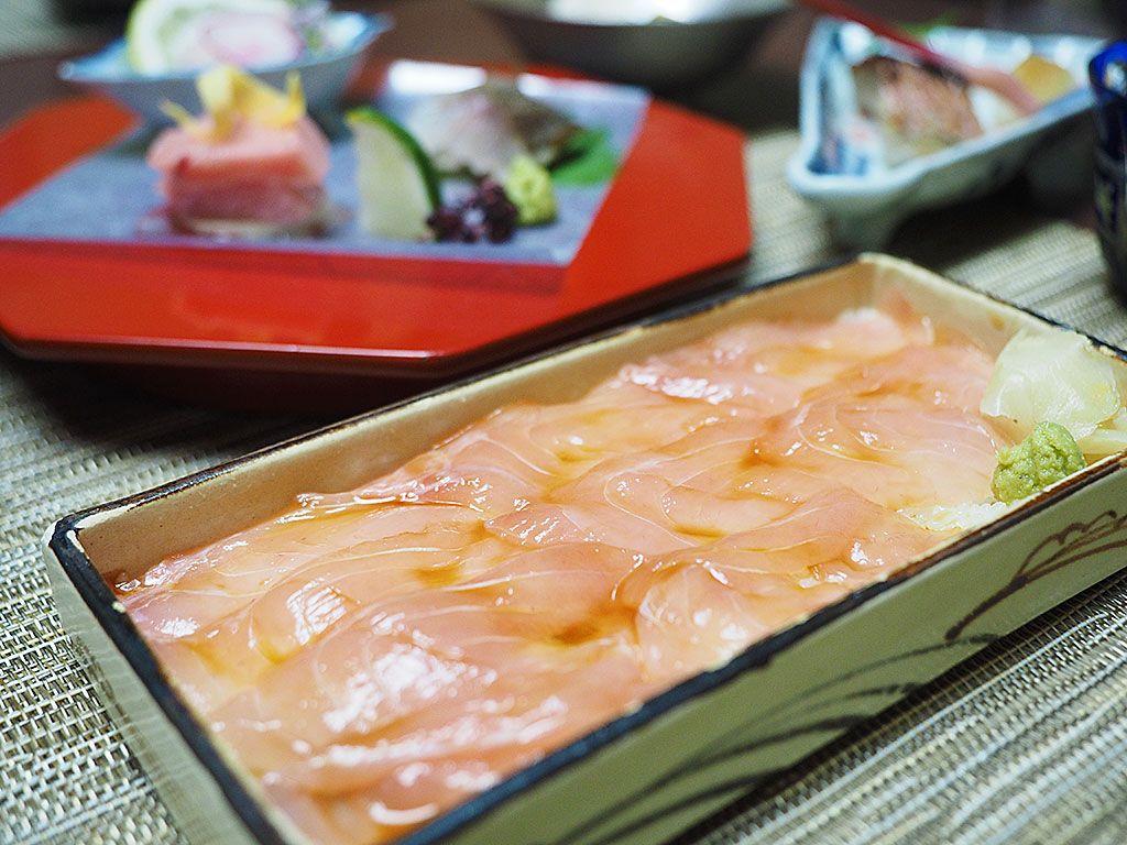 ここでしか味わえない、金目寿司