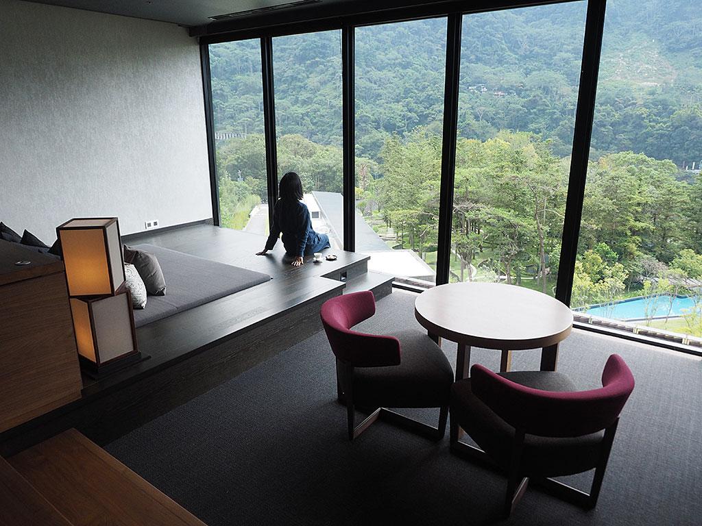 【その1】開放感あふれる設計、スタンダード客室「水明」