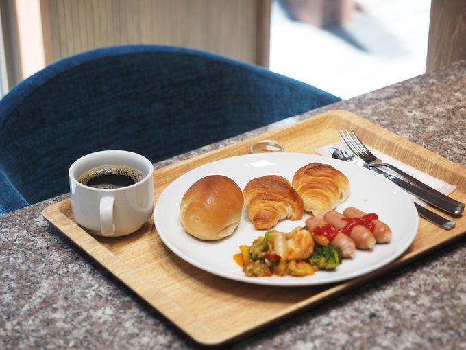 無料朝食を食べたら、湯畑散策へ