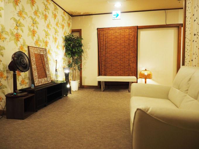 ゆるい時間が流れる静寂な客室