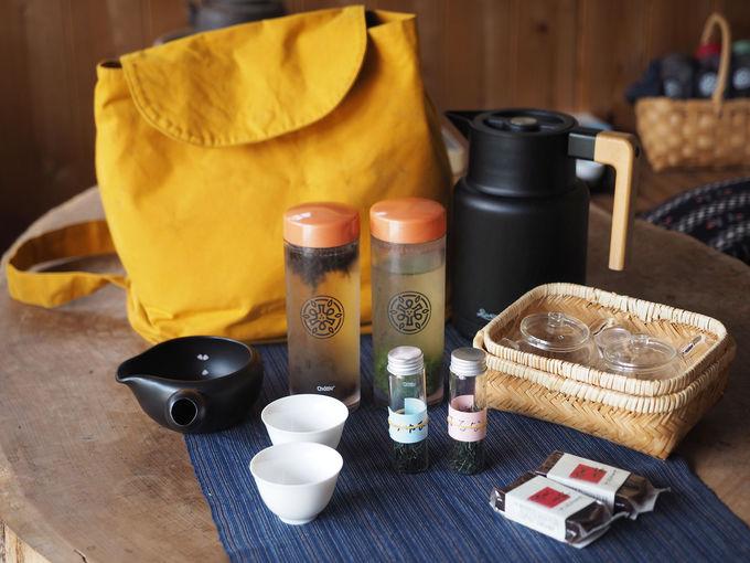 茶の間の受付場所は、元茶工場で