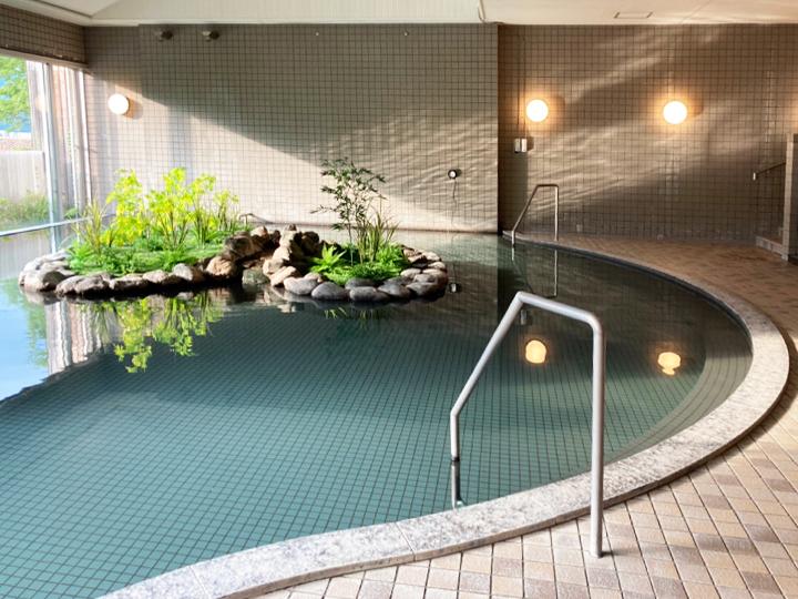 歩いて3分!修善寺温泉を引いた大浴場へ