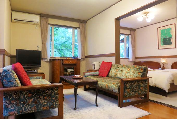 デザイン性豊かな寛ぎの客室