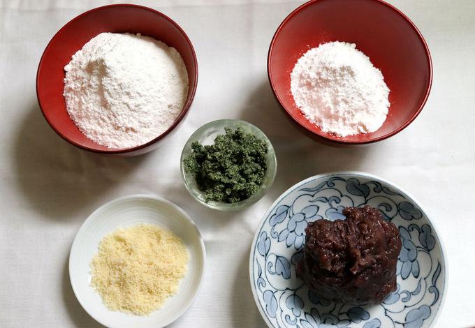 団子はお米の粉で作ります