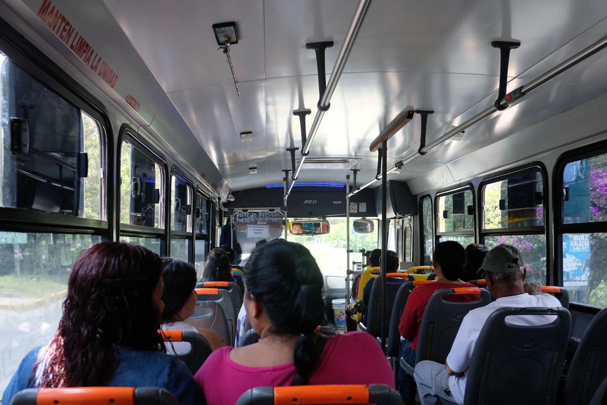 メキシコシティーからの移動はバスもしくは飛行機で!