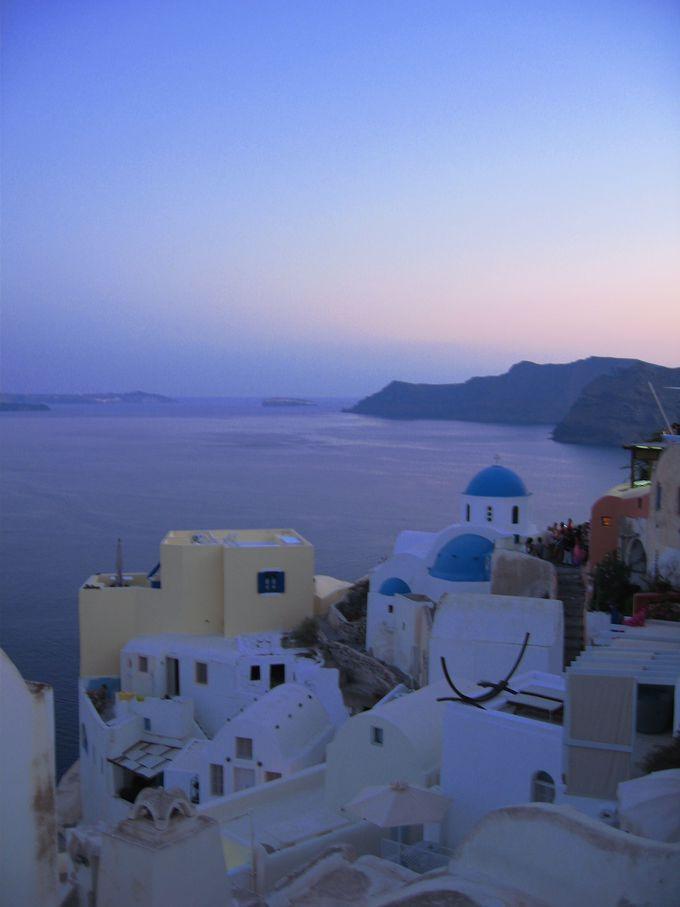 絶景の夕焼けは人ごみを覚悟