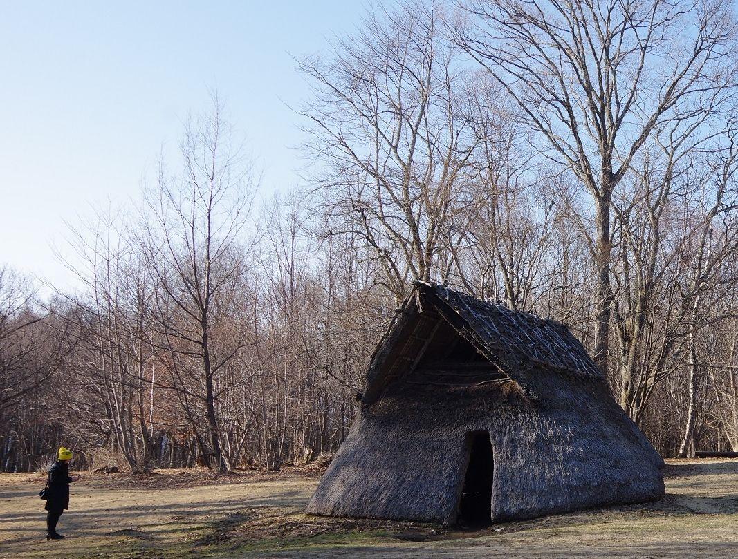 縄文時代の復元住居も