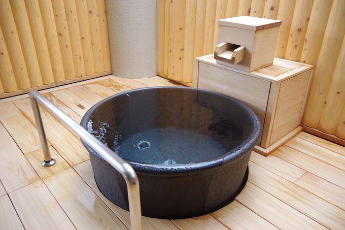 2019年3月にリニューアルした檜の露天風呂