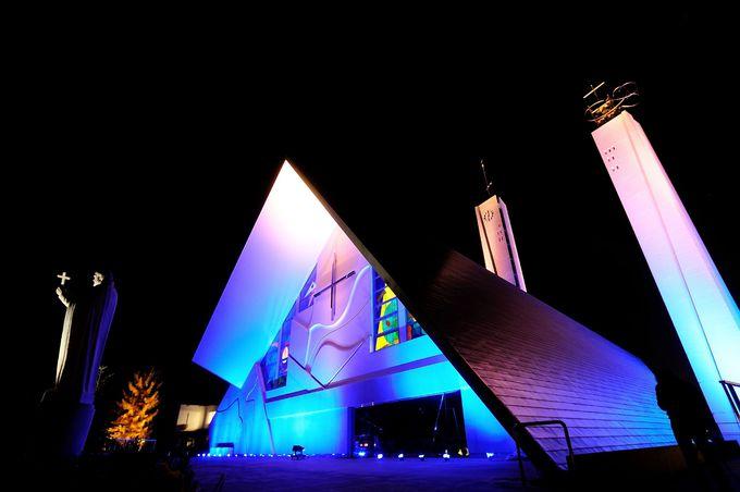 まずは「山口サビエル記念聖堂」へ