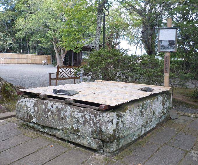 江川邸の、井戸