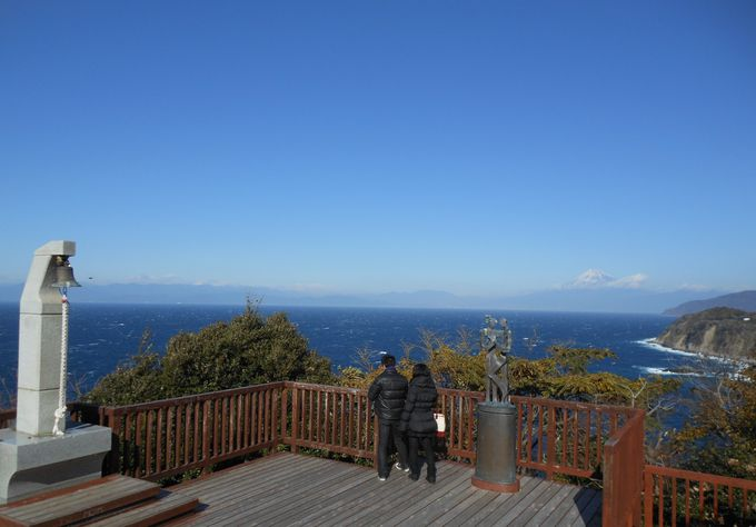 恋人の聖地からの富士山