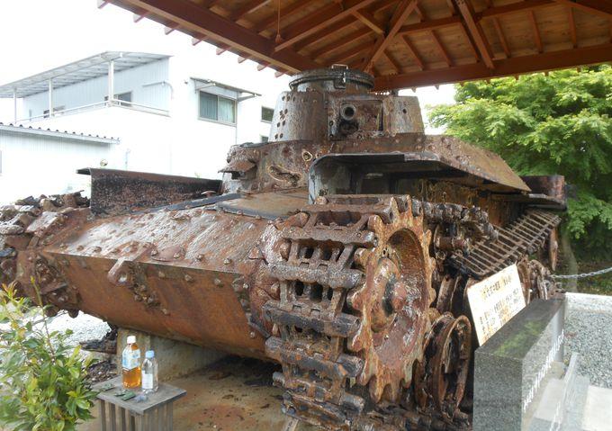 激戦をくぐった戦車