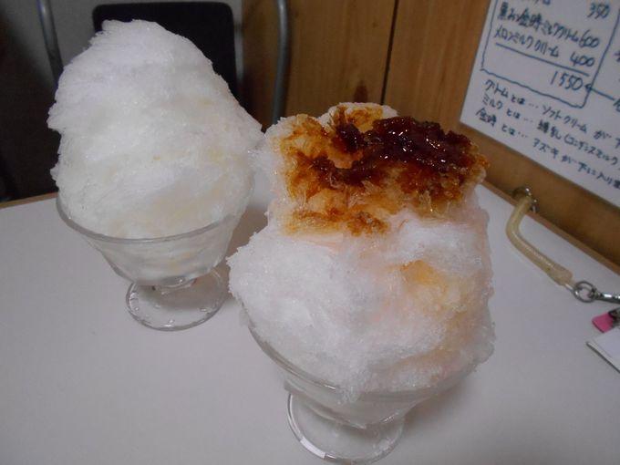 昔ながらのレトロな店内で頂く!最高のかき氷