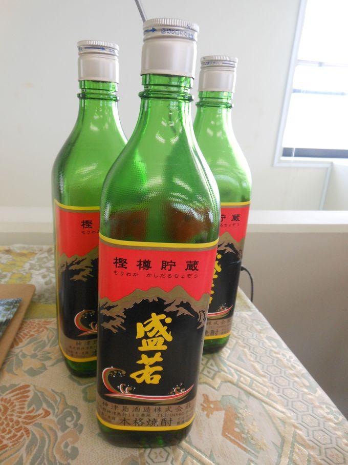 島でお酒を飲むなら、名産の焼酎「盛若」
