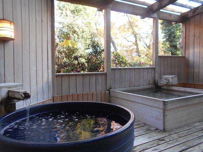 自然を体感できる!開放的な露天風呂