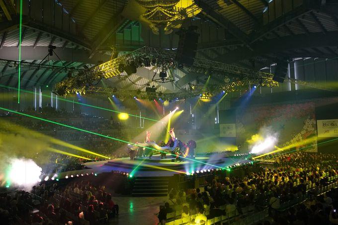 光と音が乱舞するダイナミックなステージ!