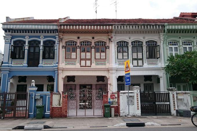 シンガポール政府が保存地区に指定するプラナカン建築群