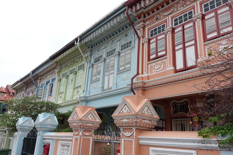 パステルカラーの可愛いお家に絶品加東ラクサ!シンガポール・カトン地区