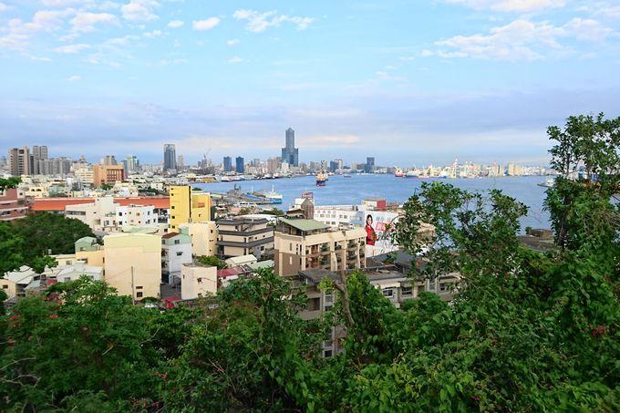 高雄市街、高雄港を見下ろす展望スポット