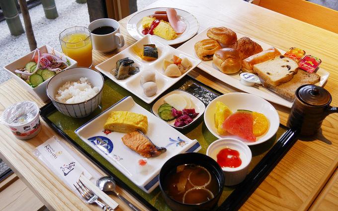セットメニューでも和と洋が一度に楽しめる朝食
