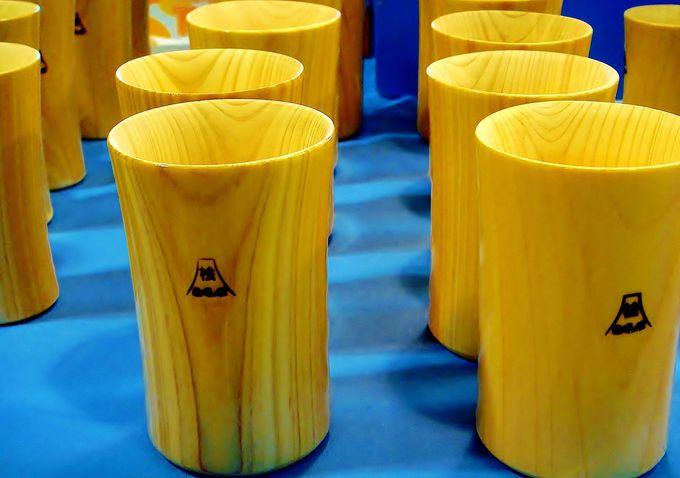お土産に福島産桧(ひのき)で手造りされた『桧コップ』はいかが?