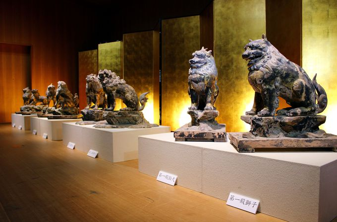 800年を経て御出現!初の一般公開された『御本殿 獅子・狛犬』
