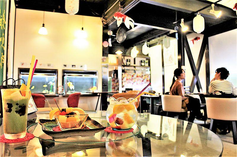 一年中金魚の街の人気カフェ!奈良「きんぎょcafe 柳楽屋」