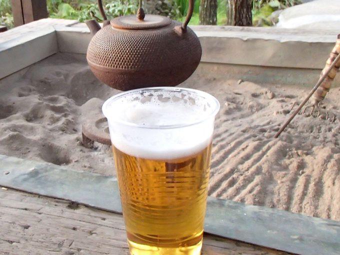 嬉しいのはビールサーバーでの生ビール無料サービス