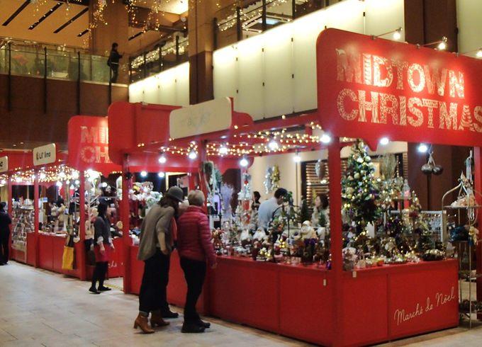 期間限定のクリスマス市も!