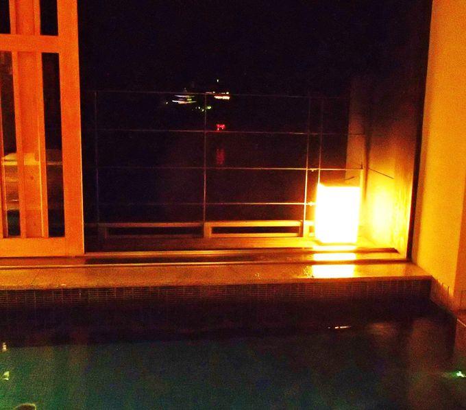 絶景!2つの貸切露天風呂と温泉風呂めぐり