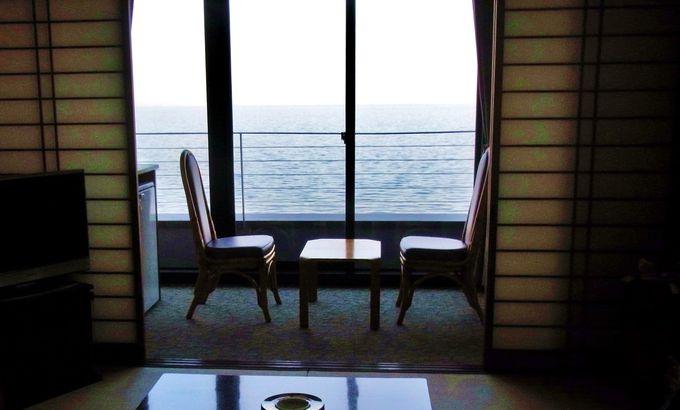 ドアを開けると、ドーンと広がる別府湾の海!海!海!!