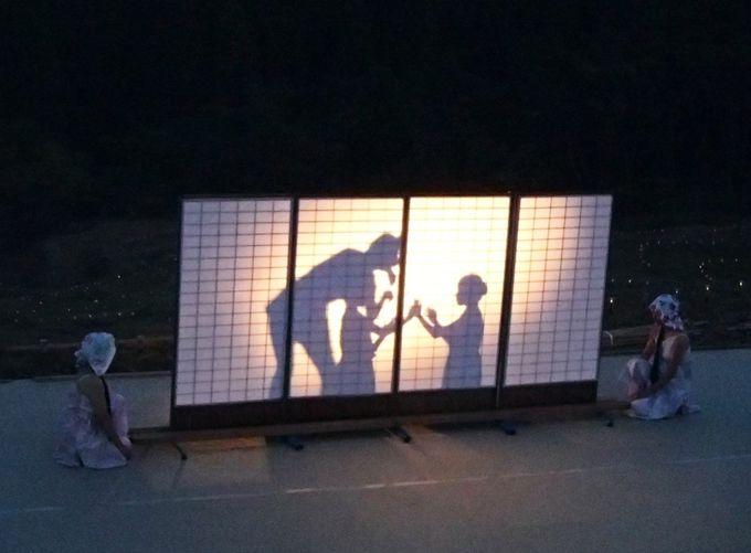 「棚田の夜祭り」の幻想的な屋外ステージにうっとり