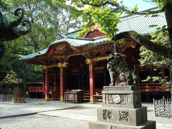東京十社の一つ、根津権現の通称で親しまれる「根津神社」