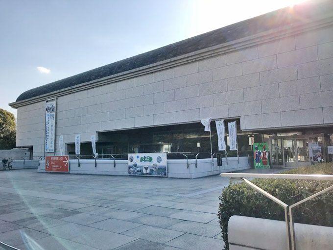 住吉祭礼図屏風の解説シーンを撮影した「堺市博物館」