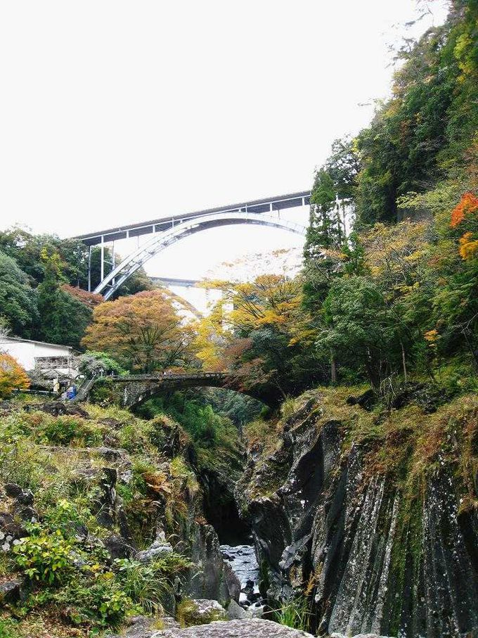高千穂峡にかかる三つの橋